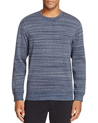 Ugg Erik Heathered Stripe Sweatshirt Navy Heather