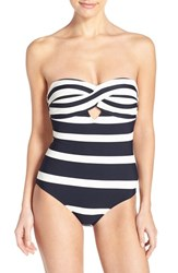 Women's Ted Baker London 'Cirana' Textured Bandeau One Piece Swimsuit