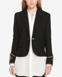 Polo Ralph Lauren Peplum Blazer Polo Black
