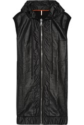 No Ka'oi Nehe Coated Shell And Cotton Blend Jersey Gilet Black