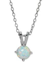 Giani Bernini Cubic Zirconia Iridescent Stone Circle Pendant Necklace In Sterling Silver Only At Macy's