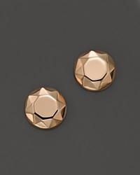 Bloomingdale's 14K Rose Gold Faceted Dome Earrings Pink