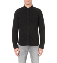 Nudie Jeans Criss Cotton Shirt Black Washed
