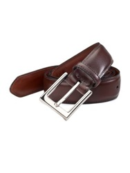 Saks Fifth Avenue Leather Belt Black Brown