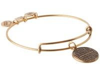 Alex And Ani Positive Is How I Live Charm Bangle Rafaelian Gold Finish Bracelet