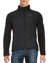 Jack Wolfskin Water Repellant Quilted Jacket Black
