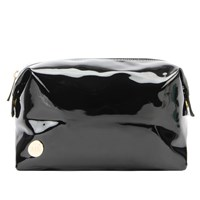 Mi Pac Gold Patent Wash Bag Black