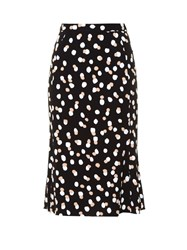 Altuzarra Novak Polka Dot Stretch Cady Skirt Black Print