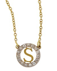 Extra Small Round Initial Pendant Necklace With Diamonds Kacey K F