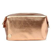 Mi Pac Gold Metallic Wash Bag Rose Gold