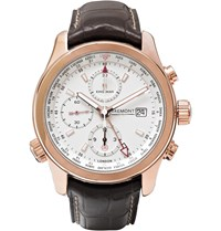 Kingsman Bremont Alt1 Wt Wh World Timer Rose Gold And Leather Automatic Chronograph Watch Gold