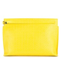 Loewe Large Leather Pouch Yellow