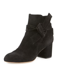 Rag And Bone Dalia Suede Ankle Tie Bootie Camel Black