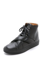 Carven Leather Sneakers Black