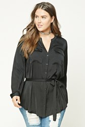 Forever 21 Plus Size Textured Satin Shirt