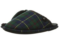 Bedroom Athletics Ewan Navy Green Tartan Men's Slippers