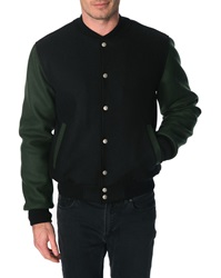 Menlook Label Sean Black And Khaki Bomber