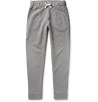 Tomas Maier Fleece Backed Cotton Blend Jersey Sweatpants Gray