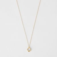 Dinny Hall Small Toro Loop Pendant Necklace Yellow Gold