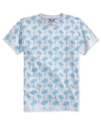 Univibe Men's Palm Tree Graphic Print T Shirt Heather Grey