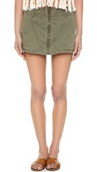 Free People Too Cool Military Skirt Green
