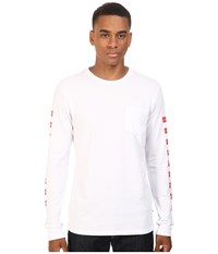 Huf X Chocolate Checkered Long Sleeve Pocket Tee White Men's T Shirt