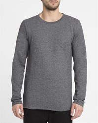Forvert Mottled Grey Sidcup Round Neck Sweater