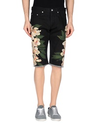 Dries Van Noten Denim Bermudas Black