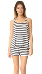 Splendid Shadow Stripe Tank Pj Set Shadow Stripe Slate