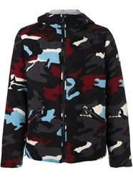 Moncler Gamme Bleu Camouflage Print Padded Jacket Multicolour