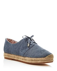 Joie Wallie Denim Lace Up Espadrille Flats