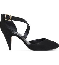 Office Forget Me Not Asymmetric Suede Courts Black Nubuck