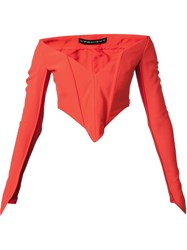 Y Project Corset Top Red