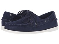 Sebago Canvas Dockside Navy Canvas Men's Shoes Blue