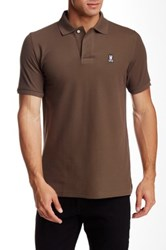 Psycho Bunny Pique Knit Regular Fit Polo Brown