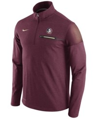 Nike Men's Florida State Seminoles Elite Coaches Half Zip Pullover Maroon