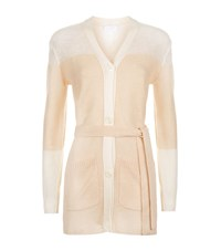 Escada Sport Colour Block Belted Cardigan Female Beige