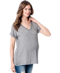 A Pea In The Pod Maternity Jersey Knit Dolman Tee Heather Grey
