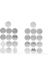 Saskia Diez Paillettes Chandelier Silver Earrings