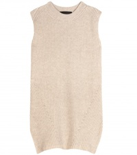 The Row Tippi Knitted Merino Wool And Cashmere Blend Top Beige