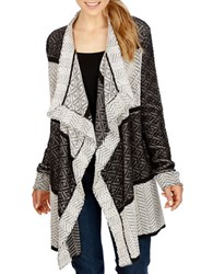 Lucky Brand Two Tone Draped Cardigan Multi