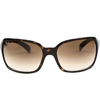 Ray Ban Light Havana Square Sunglasses In Tortoiseshell With Brown Tinted Lenses Rb4068 60