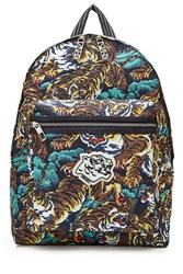 Kenzo Tiger Print Backpack Multicolor