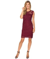 Kut From The Kloth Full Lace Dress Wine Women's Dress Burgundy