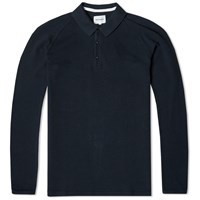 Norse Projects Long Sleeve Leif Pique Polo Blue