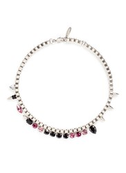 Joomi Lim 'Organized Chaos' Spike Crystal Chain Necklace Metallic Multi Colour