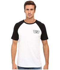 Vans Full Patch Short Sleeve Raglan White Black Men's Clothing