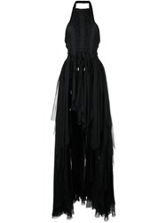 Dsquared2 Asymmetrical Lace Up Dress Black