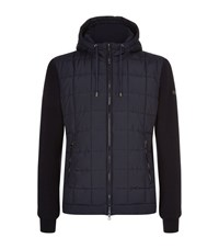 Hackett Knit Sleeve Quilted Hooded Jacket Male Navy