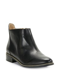 Karl Lagerfeld Satin Leather Ankle Boots Black